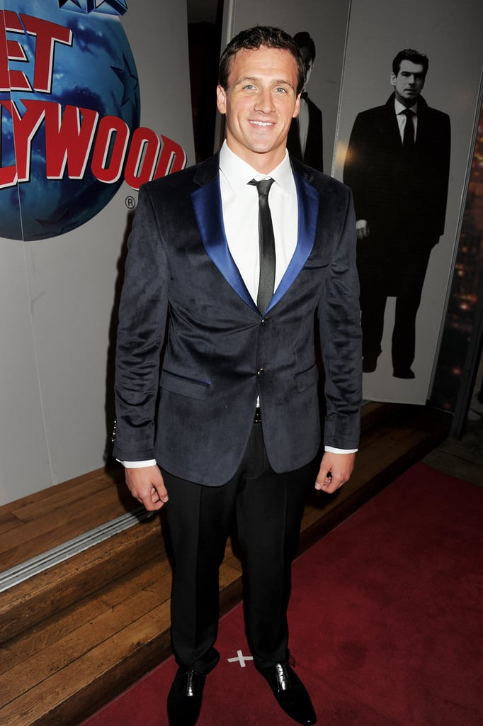 Ryan Lochte at London's Planet Hollywood.