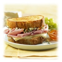 Grilled Ham, Brie, and Blue Cheese Sandwiches