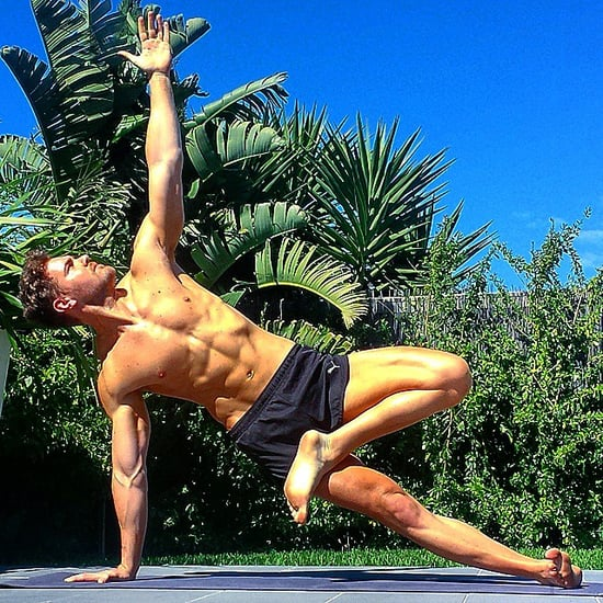 Shirtless Guys Doing Yoga