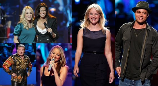 Pictures of Reese Witherspoon, Brad Pitt, Mariah Carey, Robin Williams, Carrie Underwood and Teri Hatcher at Idol Gives Back