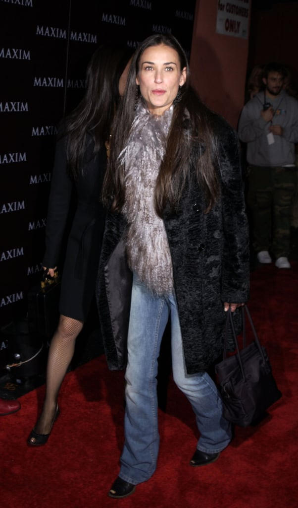 Dressed down with a dose of luxe for a Maxim party in December 2002.