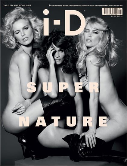 Helena Christensen, Claudia Schiffer, and Eva Herzigova Pose For ID Magazine