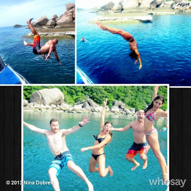 Nina Dobrev took a series of epic diving pics. Source: Nina Dobrev on WhoSay