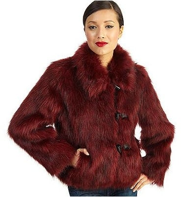 Rachel Zoe Faux Fur Toggle Coat with Wing Collar ($119)