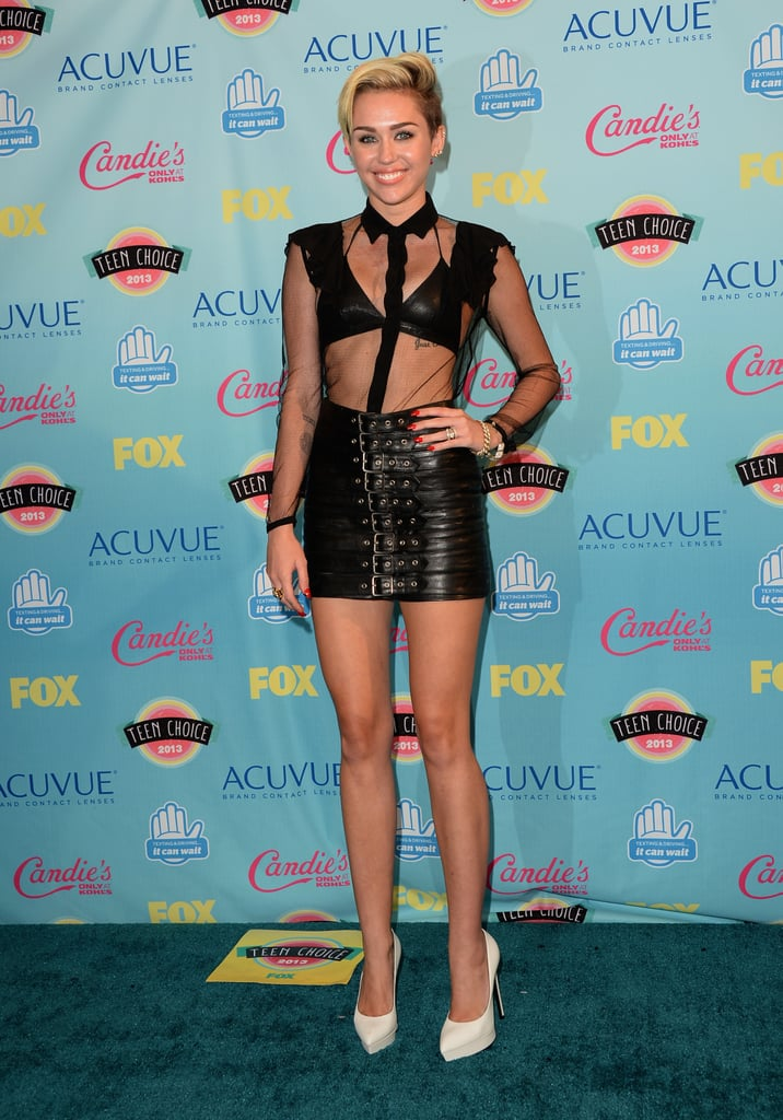 Miley Cyrus wore head-to-toe Saint Laurent for the Teen Choice Awards.