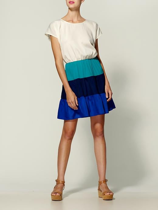 Channel the colorblocked trend in this pretty frock.  Chandi and Lia Colorblock Stripe Dress ($25, originally $49)