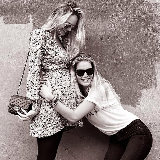 Feeling the Love! Doutzen Kroes Gives Candice Swanepoel's Baby Belly Hugs and Kisses