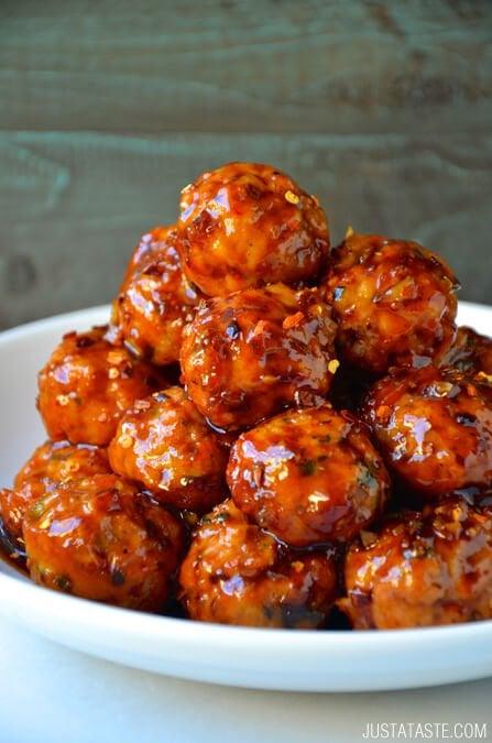 Baked Orange Chicken Meatballs