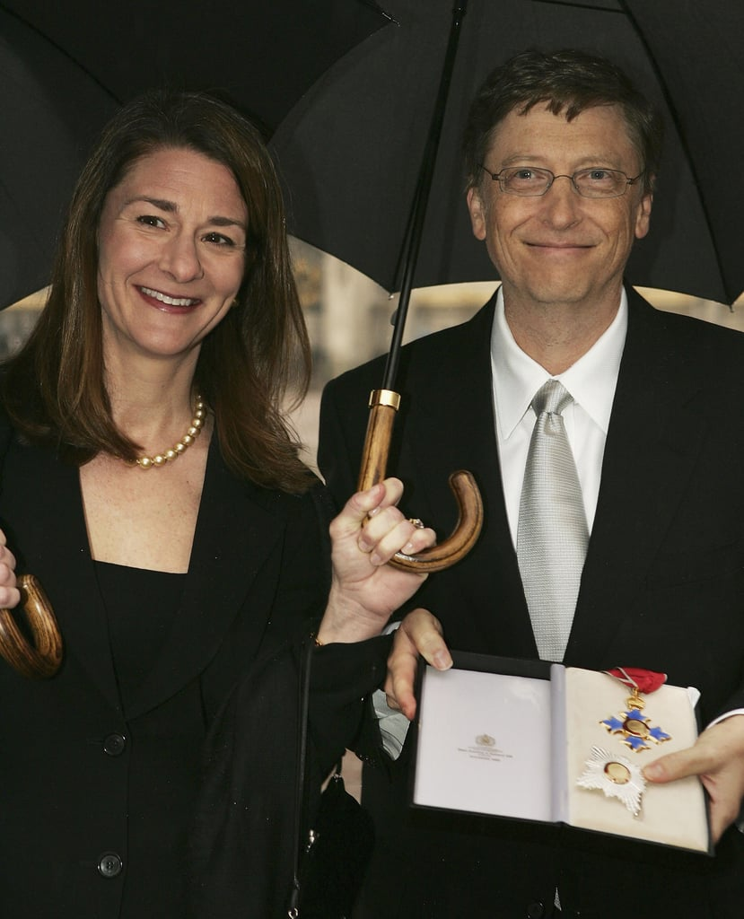 Bill and Melinda Gates Combat Seattle Rain Together