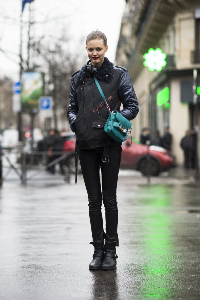 Lindsey Wixson's bright green Proenza bag was a testament to the power of details — it played off of her lipstick beautifully.  Source: Le 21ème   Adam Katz Sinding