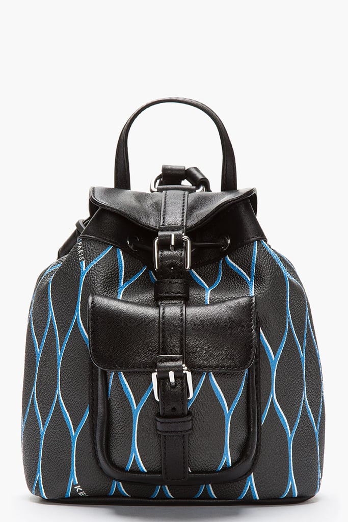 KENZO Black Leather-Trimmed Mini Backpack ($460)
