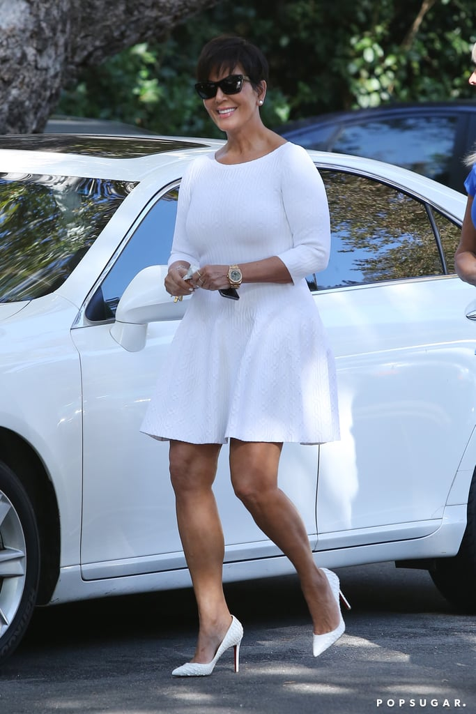 Kris Jenner wore all white in LA on Labor Day.