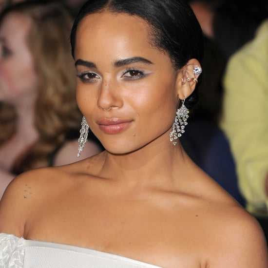 Zoe Kravitz White Eyeshadow at LA premiere of Divergent