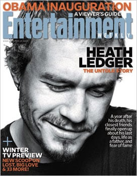 Heather Ledger For Entertainment Weekly on the One Year Anniversary of His Death