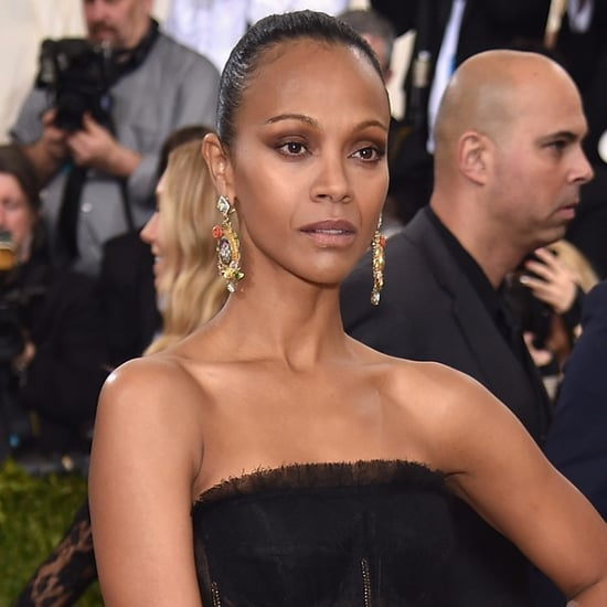 Zoe Saldana's Makeup at Met Gala 2016