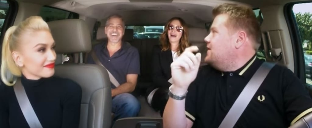 Gwen Stefani Gets a Little Help From George Clooney and Julia Roberts During Her Carpool Karaoke