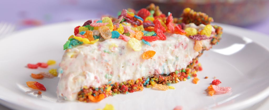 Curb Your Cereal Cravings With This Fruity Pebbles No-Bake Cheesecake