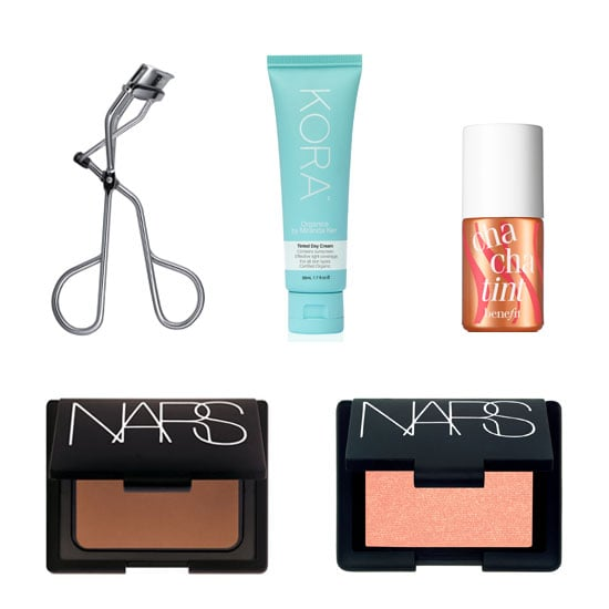 "What are your top five, must-have beauty products? ""I use Shu Emura Eye Lash Curler ($40), Kora Tinted Day Cream ($59.95), Benefit Cha Cha Tint ($55), Nars Bronzing Powder in Laguna ($55), Nars Blush in Orgasm ($45). I don't stray from this, I'm a creature of habit!""  Shu Uemura stockists: 133 33 57"