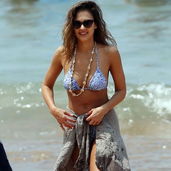 Jessica Alba's Blue Bikini in Hawaii 2016