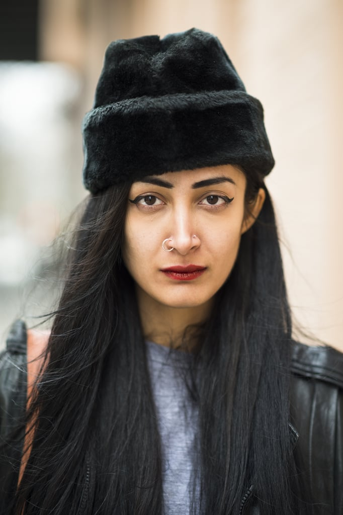 Nadia Sarwar made a case for bringing out your boldest makeup looks in the daytime. Source: Le 21ème | Adam Katz Sinding