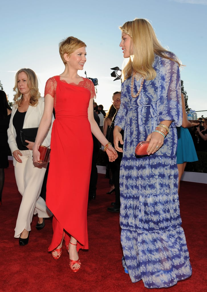 Busy Philipps and Michelle Williams were together at the 2012 SAG Awards.