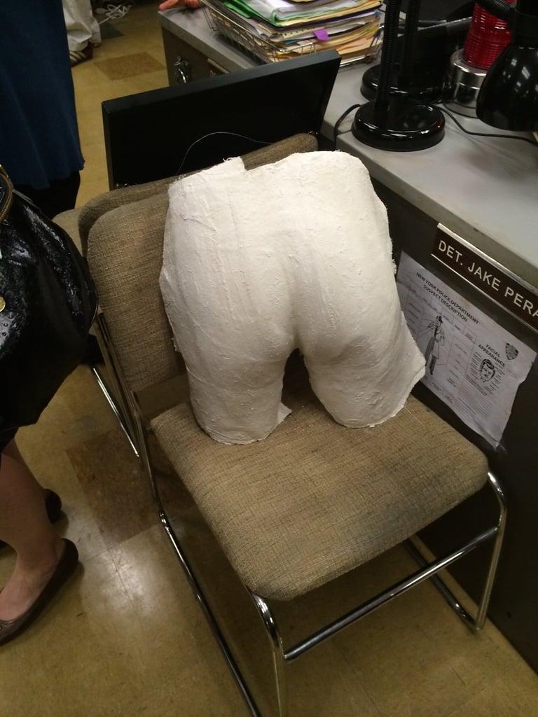 Found: Boyle's infamous butt cast.