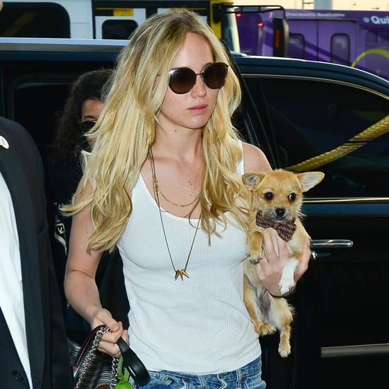Jennifer Lawrence Travelling With Her Dog Is Cuter Than Cute