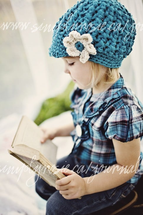 Knit Newsboy Hat For Girls