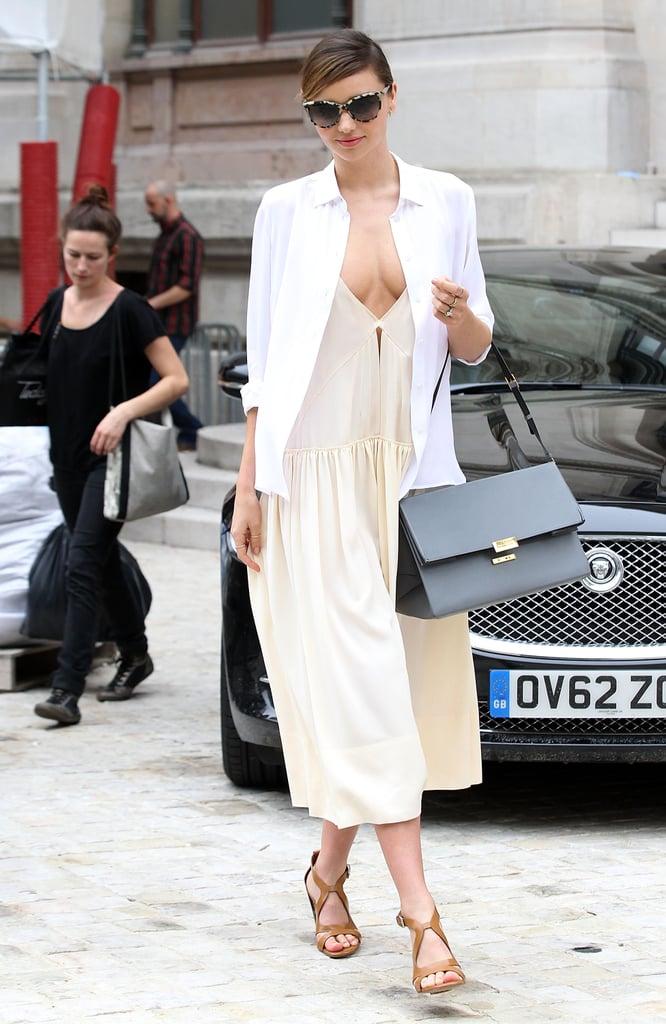 Miranda Kerr popped up in Paris on Monday.