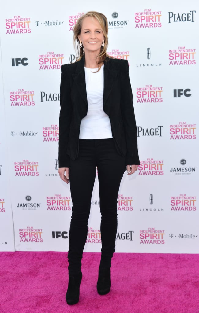 Helen Hunt on the red carpet at the Spirit Awards 2013.