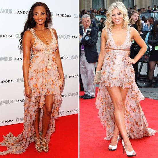 Alesha Dixon and Mollie King in Julien Macdonald Mullet Dress