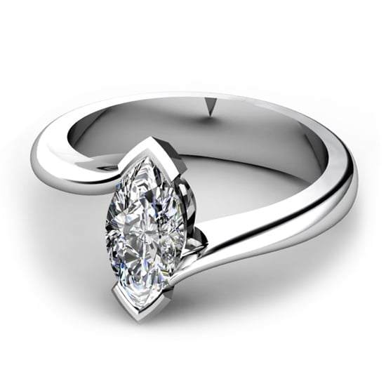 18 carat white gold and diamond ring, $4,600, Waldemar Jewellers