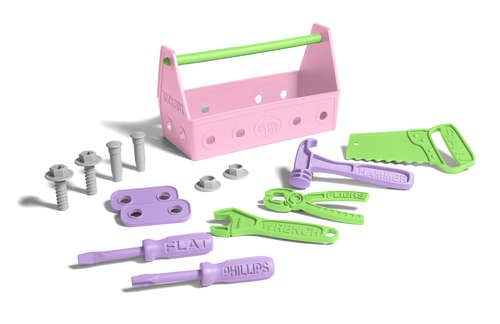 "Who says that tool sets are just for the boys? Green Toys' Pink Tool Set ($28) encourages little girls to embrace their inner ""Miss Fix It"" with 15 pieces of building fun."