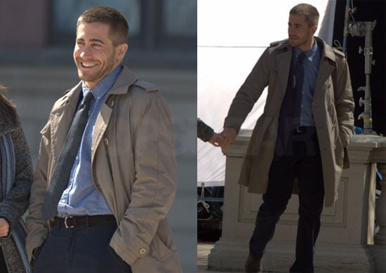 Pictures of Jake Gyllenhaal Filming Source Code in Chicago