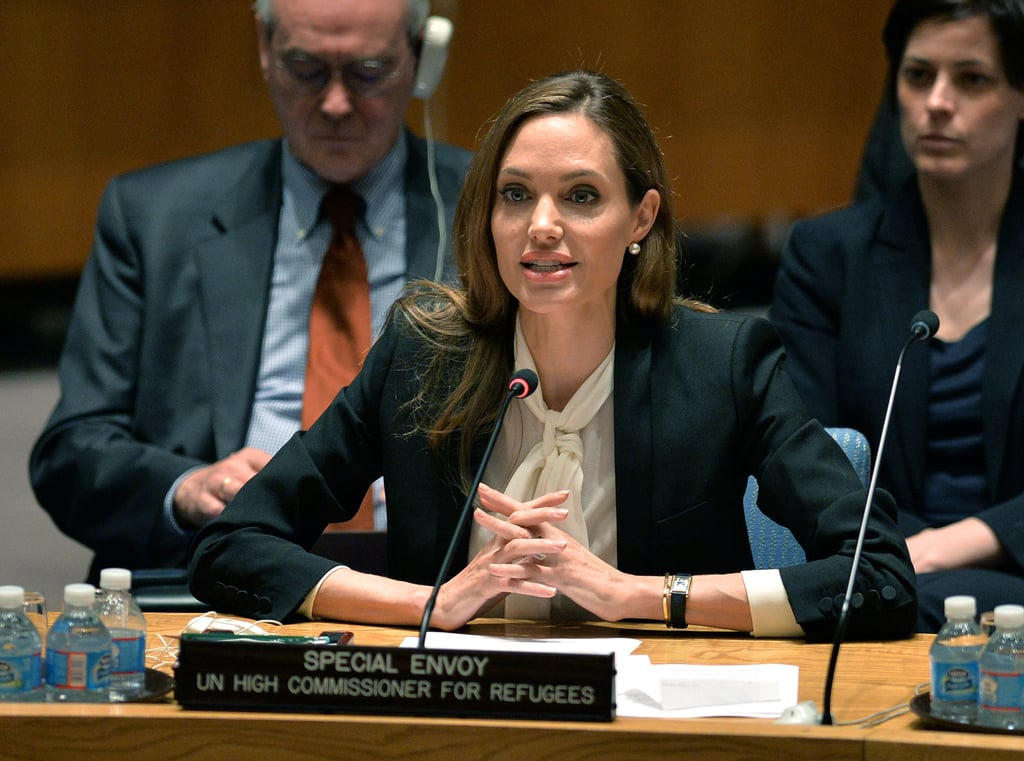 As a special envoy for the UN Refugee Agency, Angelina Jolie spoke out against sexual violence during times of conflict.