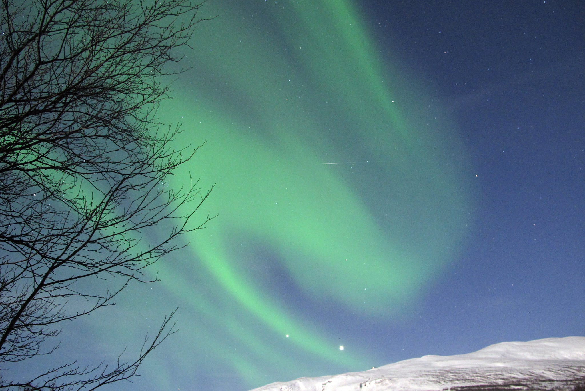 A picture taken in Abisko, Sweden, in March 2012 showed a beautiful view of the aurora borealis.