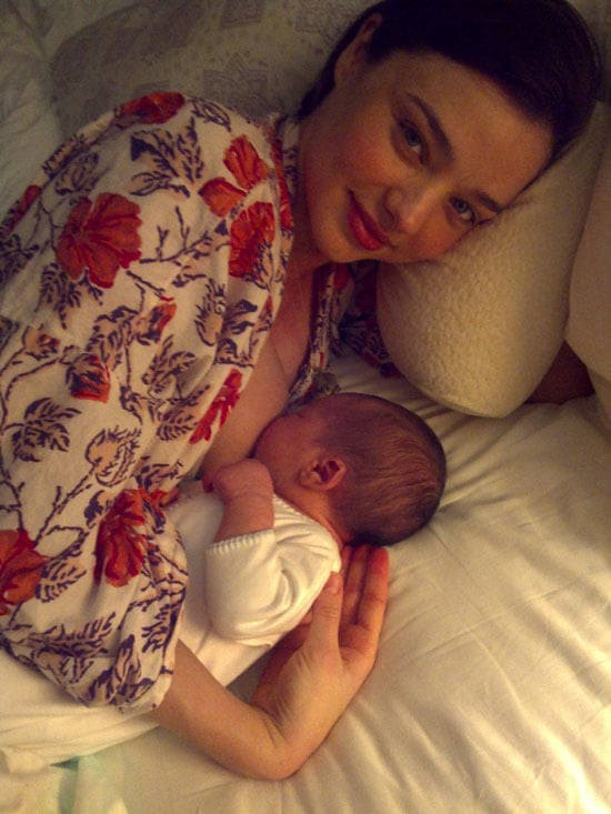 Miranda Kerr and Orlando Bloom announced Flynn's name and the first picture of him via a blog post on the KORA Organics website.