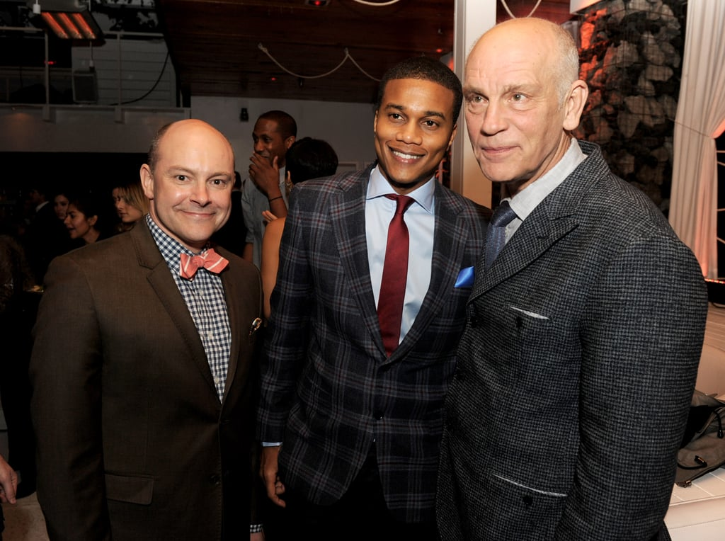 Rob Corddry talked with Cory Hardrict and John Malkovich at the after party.