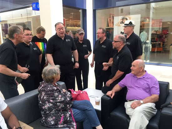 Gay Men's Chorus Serenades Random Shoppers in North Carolina Mall to 'Spread a Little Happiness and Joy'