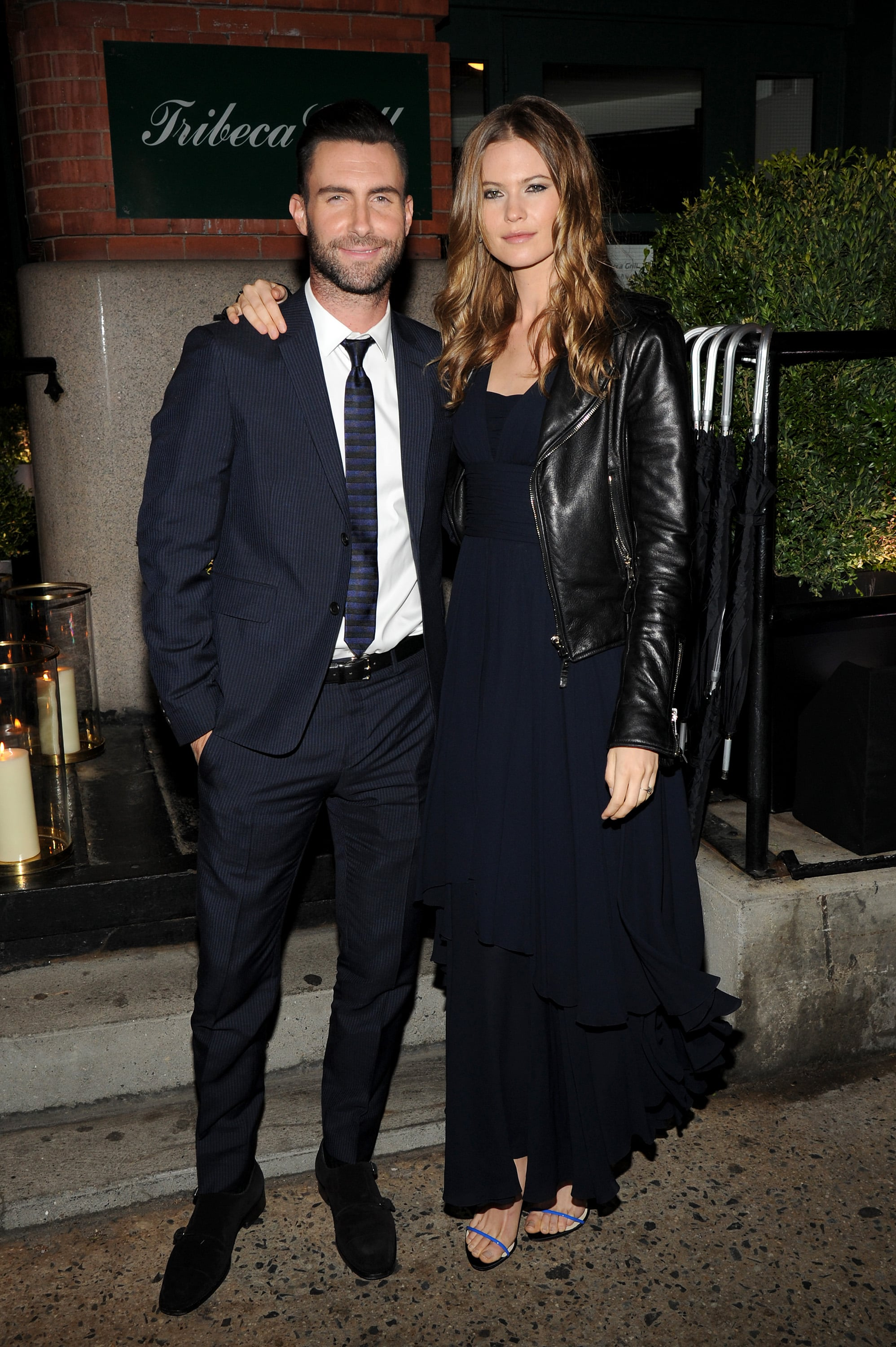 Adam Levine and Behati Prinsloo attended a Chanel dinner for Begin Again.