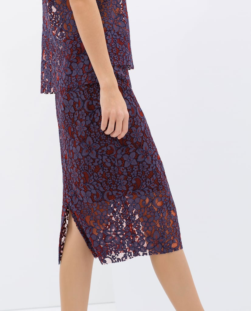 Zara Lace Pencil Skirt ($80)