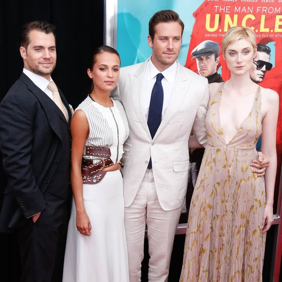 Henry Cavill and Armie Hammer at The Man From UNCLE Premiere