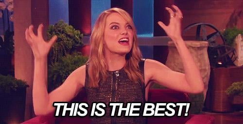 And inspires shock and awe in Emma Stone.