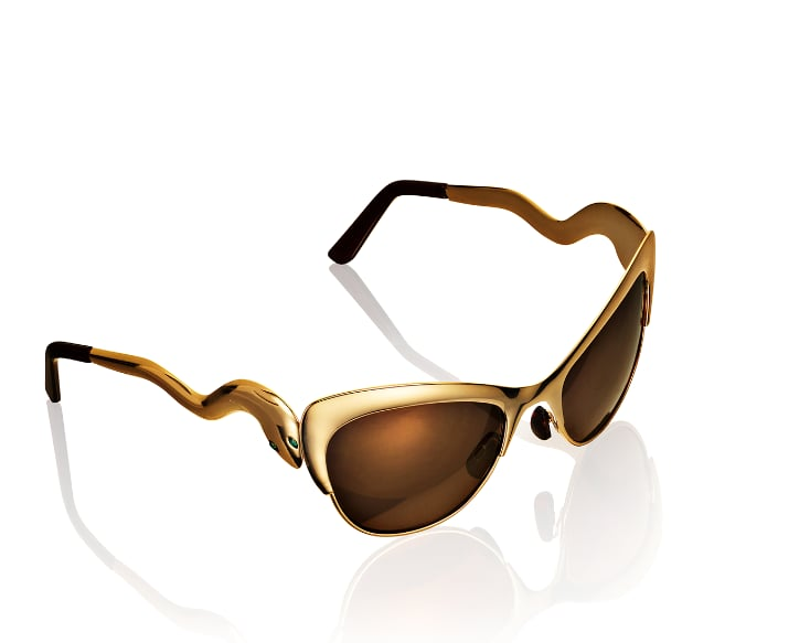 Editors' Pick: The snake-inspired stems of these sunglasses are subtle enough that you're not going overboard on the exotic motif, but it certainly adds a dash of cool to your look.