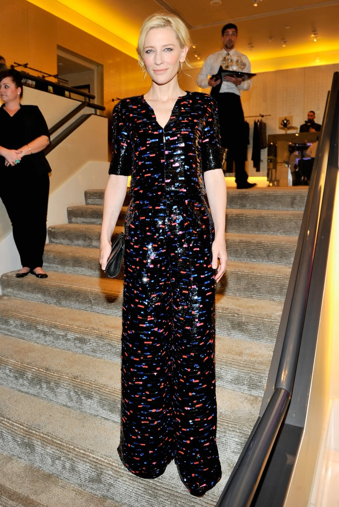 She also dropped by Armani's pre-Oscars party for Martin Scorsese and Paolo Sorrentino.