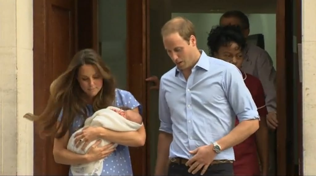 Kate Middleton was carrying the royal baby as she and Prince William left St. Mary's Hospital.