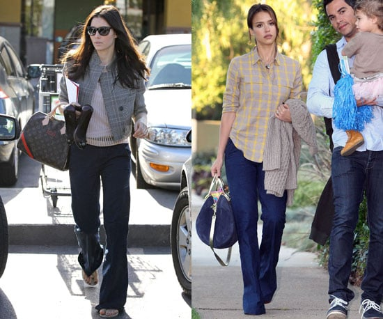 Pictures of Jessica Alba and Jessica Biel Wearing Madewell