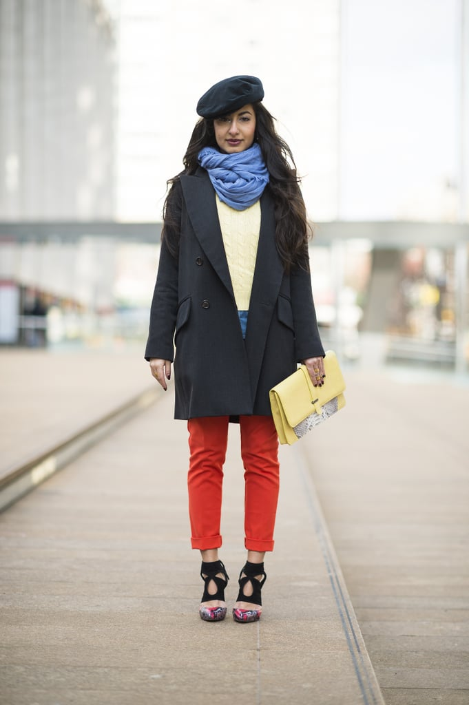 Bright pants and killer footwear took the spotlight outside Lincoln Center. Source: Le 21ème   Adam Katz Sinding