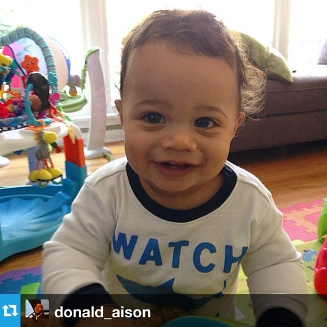 Rocco Faison was all smiles for his mom, Cacee Cobb. Source: Instagram user caceecobb