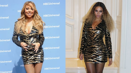 Beyonce and Mariah Carey Rock the Same Balmain Minidress: Who Wore It Best?